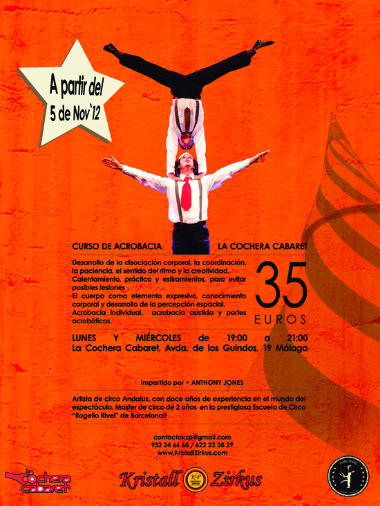 Curso de acrobacias de Anthony Jones 2012