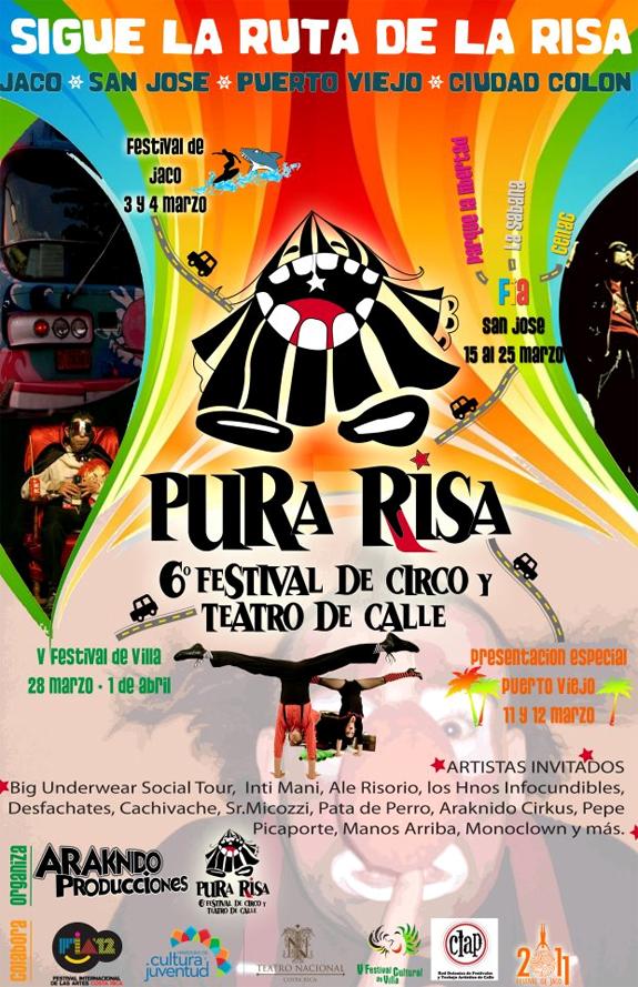 PURA RISA - VI Festival de Circo y Teatro de Calle, Costa Rica 2012