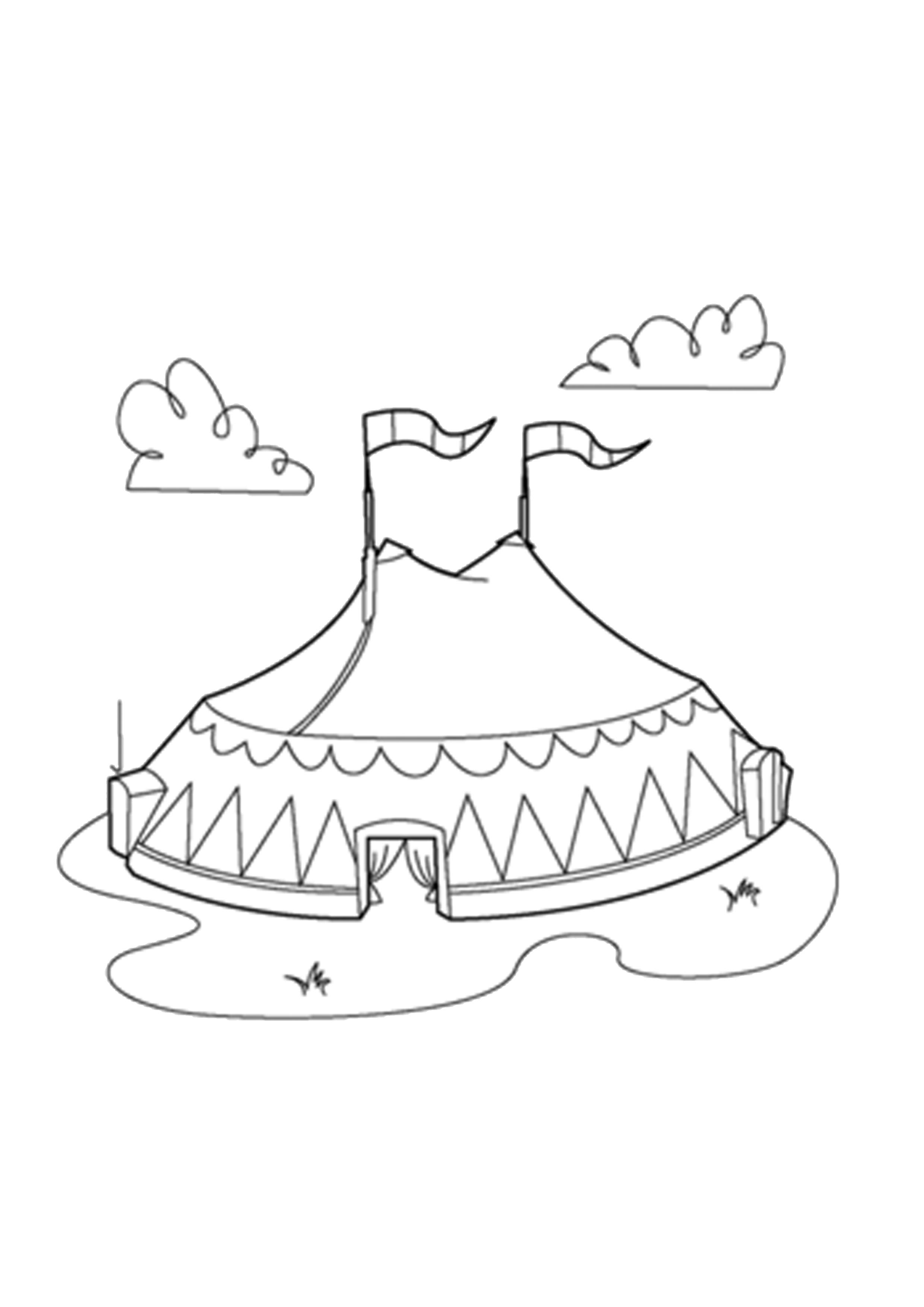 Único Circo Para Colorear Imágenes Elaboración - Dibujos Para ...
