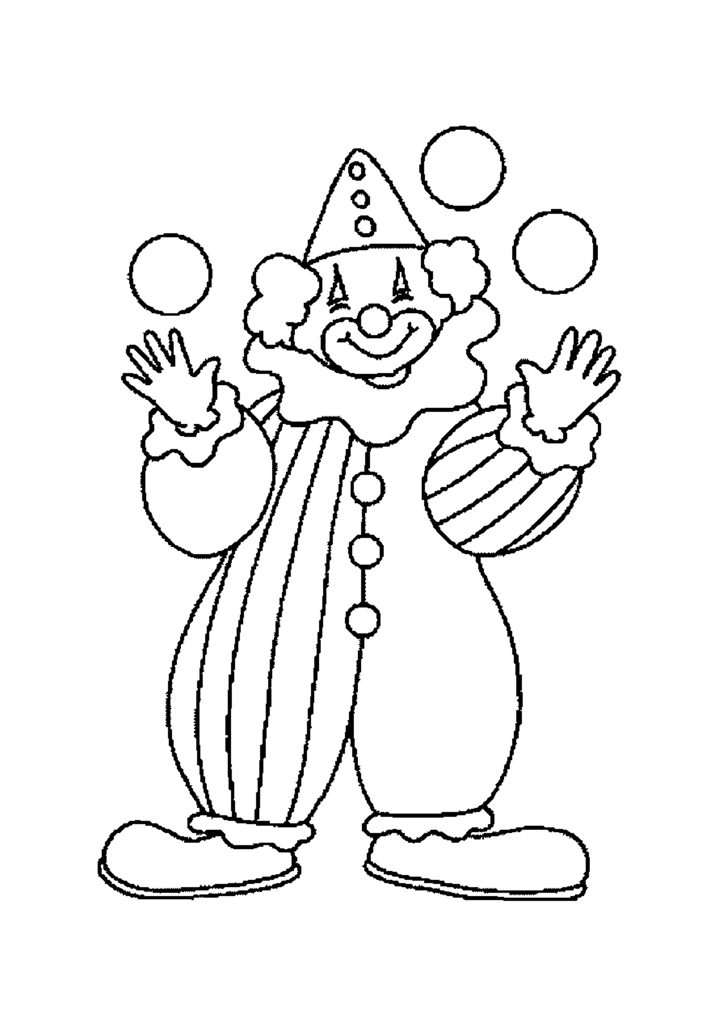 Dibujos para Colorear de personajes de circo | Malabart - Revista ...